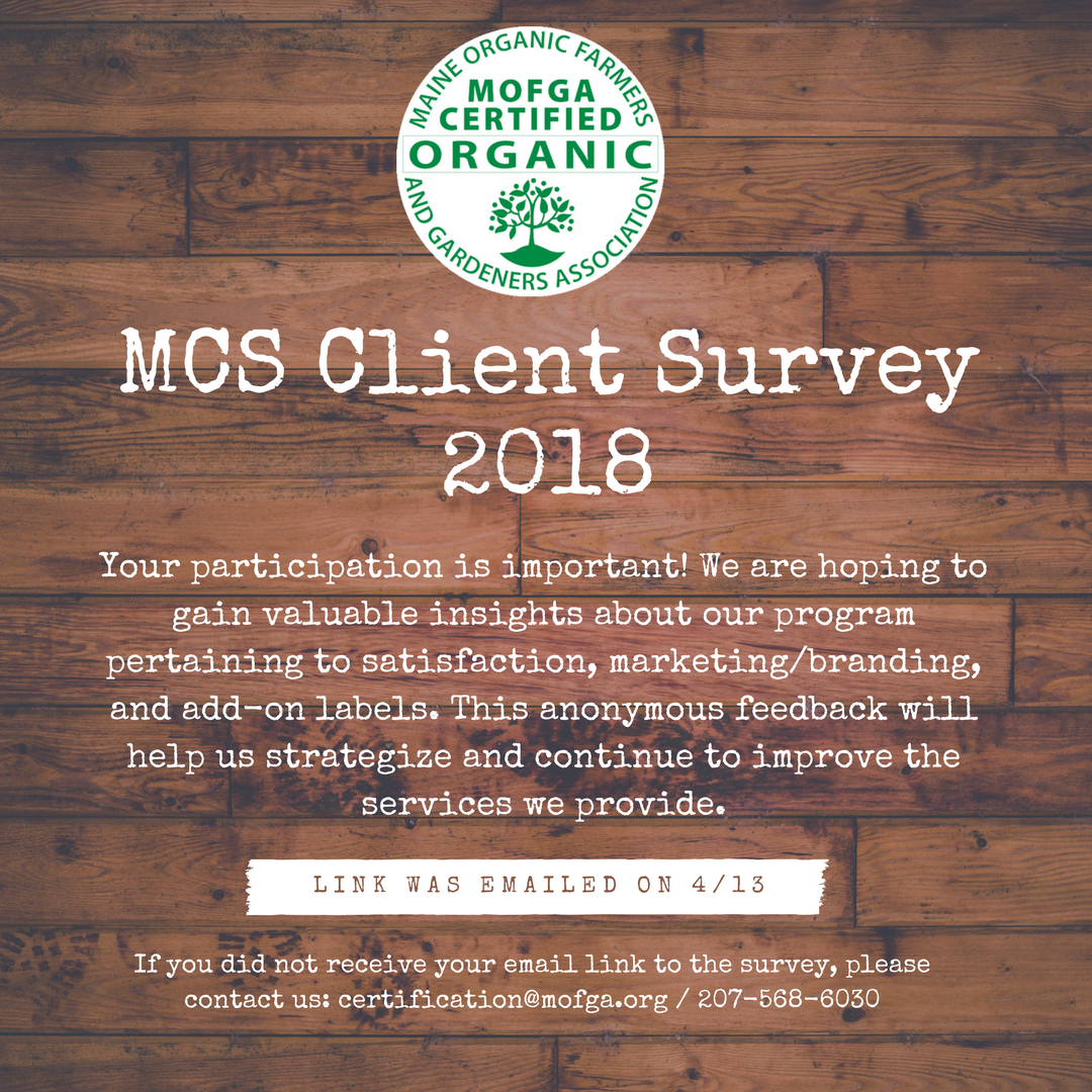 Mcs Client Survey Your Input Requested Mofga Certification Services